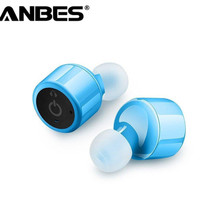 ANBES Portable Smart Mini Wireless Bluetooth Twins Stereo Mini Double In-Ear Headset Earphone Earbuds for IOS Android Smartphone