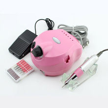 Professional Pink Electric Acrylic Nail Manicure File Manicure Kit 220V Eu Plug Nail Tools for Nail Gel(China)