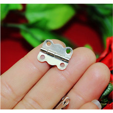 White Metal Hinge,Cabinet Door Hinge 4 Holes Butterfly Antique,Vintage Butterfly Hinge,16*13mm,50Pcs
