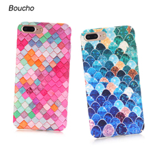 Buy Boucho Lovely Blue Mermaid Fish Scale Phone Cases iphone 8 plus Case Protective Back Cover iphone 8/8Plus Case Coq for $2.20 in AliExpress store