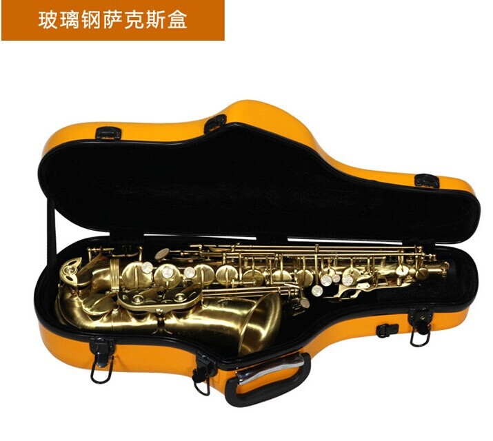 yellow color Alto saxophone Glass Fiber case Light Durable Lock Blue New #001-312<br><br>Aliexpress