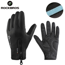 ROCKBROS Winter Snowboard Anti-slip Ski Gloves Thermal Waterproof Sreen Skiing Glove Motorcycle Bike Hiking Climbing Men Women(China)