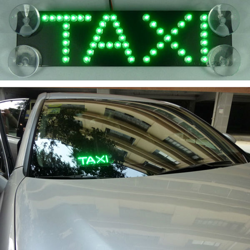 Taxi Cab led light 17.5X4.5cm additional brake lights led refit light led taxi sign LED with car charger cigarette lighter<br><br>Aliexpress