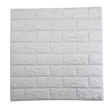 PE Foam 3D Wall Stickers DIY Safty Home Wall Decor Wallpaper Brick Living Room Kids Bedroom Decorative Sticker 60X60cm(China)