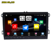 NAVITOPIA 9inch Quad Core Android 4.4 1024*600 Car PC GPS Stereo Radio For VW universal with Mirror Link 16 GB Flash wifi map(China)