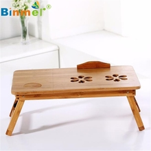Bamboo Adjustable Laptop Desk Breakfast Serving Bed Tray w' Tilting Top Drawer SZ0308*1.15(China)