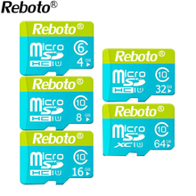 Rebot Micro SD Card 64GB 32GB Memory Card UHS-1 16GB 8GB 4gb Class 10 Flash card Memory Microsd for Smartphone/Tablet