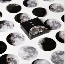 45 Pcs/Pack phase of the moon planet star calendar Decoration Stickers DIY hand craft Planner scrapbook lable Diary Stickers(China)