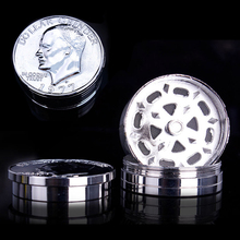 Coin Weed Grinder Smoking Pipe Wood Tobacco Pipe Herb Grinder Hookah Narguile Tobacco Crusher Smoke Detectors Tool