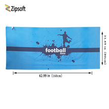 Zipsoft Beach towel Brand 2017 Football Time Serviette Plage Microfiber Large Compressed Towels Swimming Camping Sports Blanket(China)