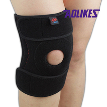 1PCS Adjustable Basketball Knee Pad Knee Support Brace Protector Patella for Running Volleyball Tennis Bike Black