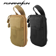 Tactical Molle EDC Pouch Mesh Tools Accessory Pouch Waist Bag Combat Hunting Flashlight Magazine Pocket Fanny Pack