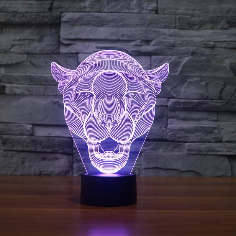 Lion Face 3D LED Light 2