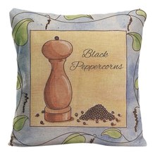 Black Peppercorns Cushion Cover Decorative Pillow For Sofa Car Covers Bay Leaves Cloves Pillow Case Linen Home Decor Pillowcase(China)