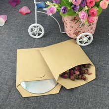 50pcs/lot square Kraft CD Paper Case Bag,Blank Kraft Envelopes, Natural color Plain Kraft Paper Gift Bag,Party Cards Paper bag