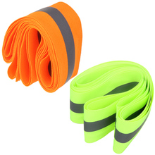 "3m Reflective Line Green Orange Tape Sew On 2"" Trim Fabric 10 Feet Safety Bike Bicycle Cycling Running Warning Reflective Band"