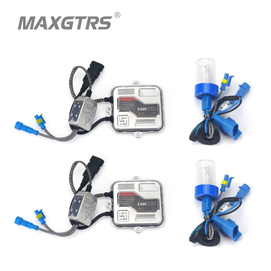 2x Car HID Headlight Kit 5500K Fog Light 55W H1 H3 H4 H7 H8 H9 H11 9005 9006 Hi Lo Xenon White Bulb Ballast Conversion DRL DC12V<br>
