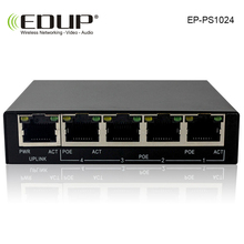EDUP 5 port 10/100M POE Switch network of compatible network cameras and wireless AP IEEE 802.3af with EU/US Power adapter(China)