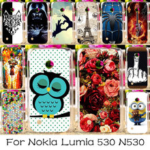 TAOYUNXI Silicone Phone Case For Nokia Lumia 530 N530 4.0 Inch Housing Bag Cover Flower Shell For Nokia Lumia 530 Cases Cover(China)