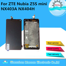 M&Sen For ZTE Nubia Z5S mini NX403A NX404H LCD screen display+touch digitizer with frame black free shipping