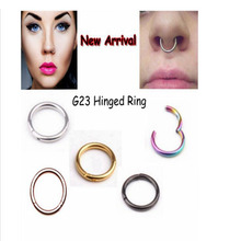 1PC G23 Titanium 16G Nose Hinged Segment Ring 6-12mm Septum Clicker Piercing Nose Earring Tragus Nose Pircing Nariz Body Jewelry