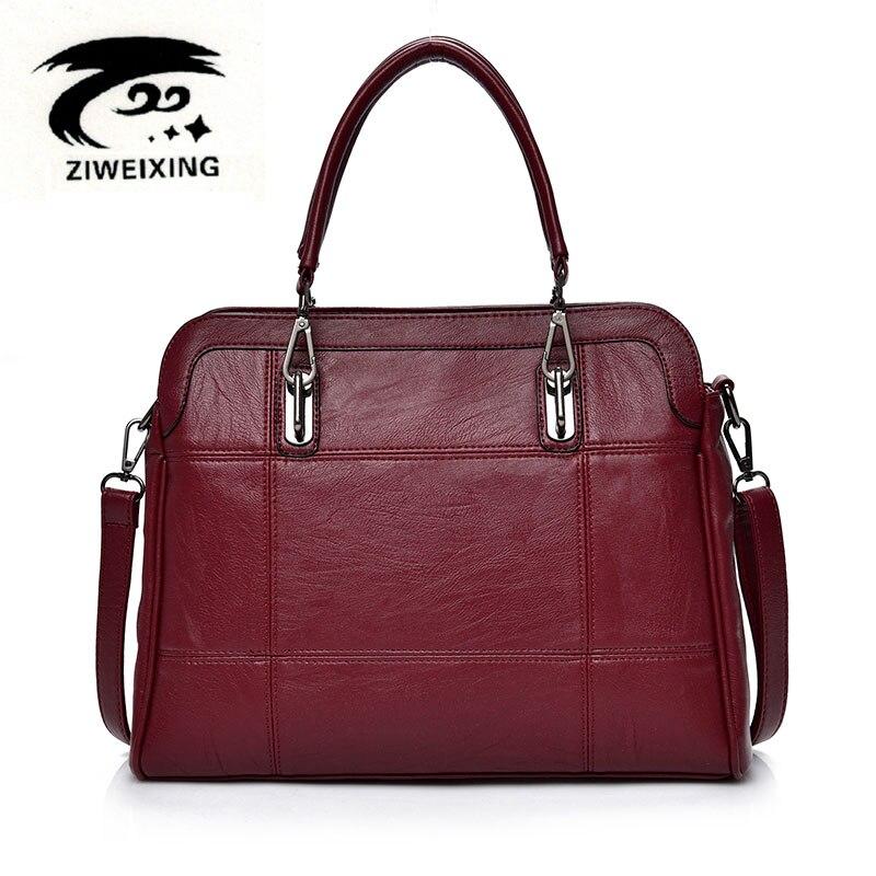 2017 Women High Quality Leather Handbags Casual Ladies Big Tote Bolsos Female Design Fashion Mujer Plaid Shoulder Bag Sac A Main<br>