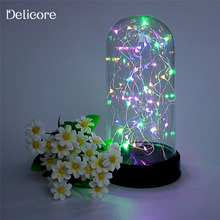DELICORE Firework String Night Lights LED Fairy Lights Battery Operated Christmas Wedding decora Table Lamp Gift for Kids S086-M