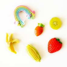 Fridge Magnet Cute sticker fruit Rainbow magnetic refrigerator Absorbing sticker home decoration magnetic board imanes de nevera