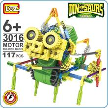 Loz Motor Building Block Robotic Ceratopsian Robot Ceratopsians Action Model Toys Diy Kids Battery Toy Blocks Transform 3016