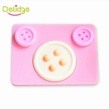 Delidge 1 pc Buttons Shape Cake Mold Silicone Cake Decoration Fondant Mold Baking Decorating Tools Button Fondant Chocolate Mold