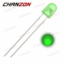 100pcs 546 LED Oval Diode Green Light 5mm DIP Diffused Light Emitting Diode LED Lamp DIP Through Hole Bulb Electronic Components