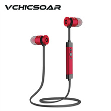 VCHICSOAR Metal Sports Wireless Earphone Bluetooth 4.1 HD HiFi Bass Stereo Headphones Camera Control Anti-Sweat Headset with Mic