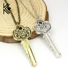 United Kingdom Television Sherlock Holmes 221B Key Chain Necklace Vintage Antique Gold/Silver Plated Pendant Necklace Wholesale