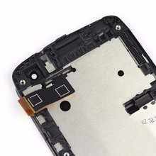 For HTC Desire 500 Full Touch Screen Digitizer Panel Glass + LCD Display Monitor Module Assembly With Frame Bezel Housing