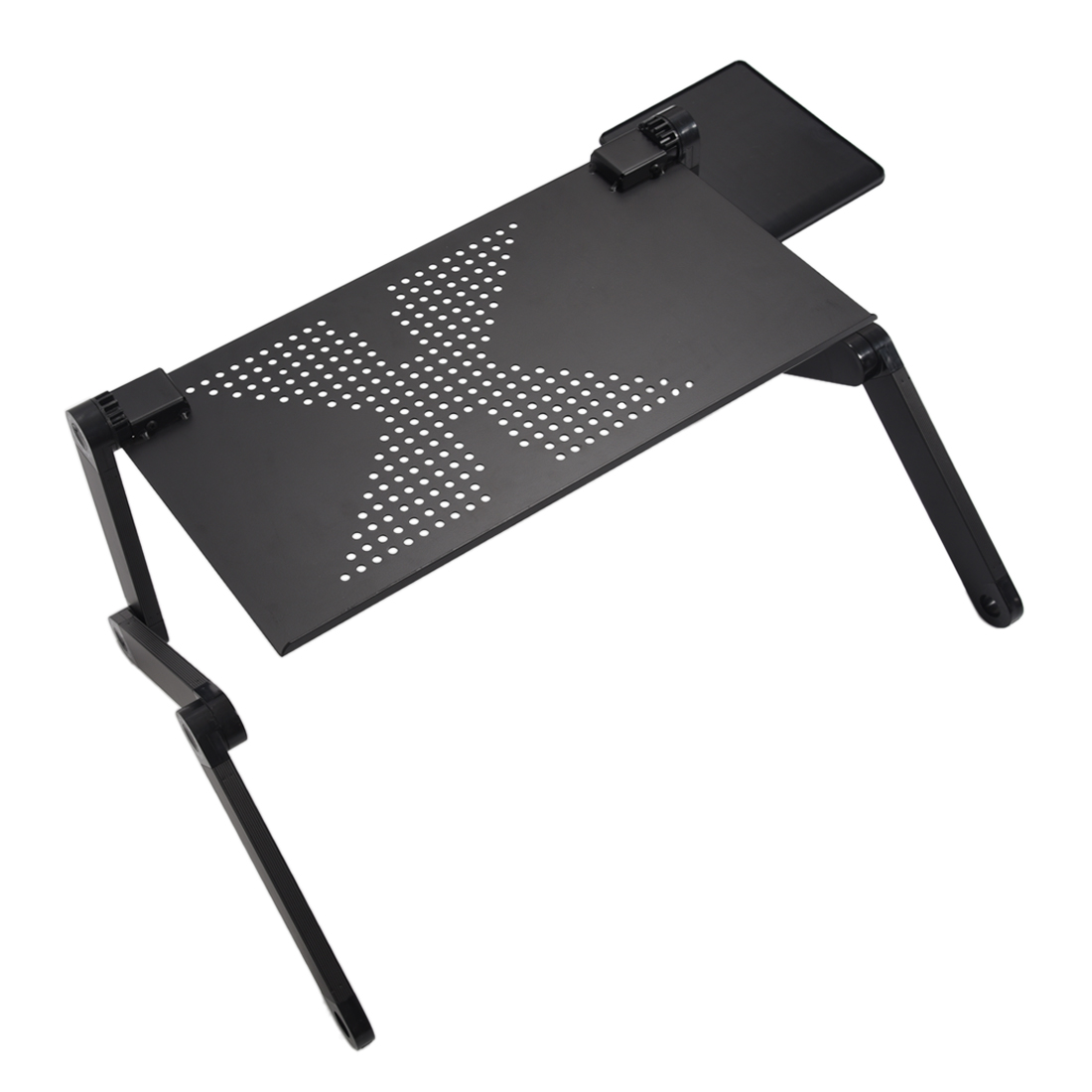 Portable Foldable Adjustable Laptop Desk Computer Table Stand Tray For Sofa Bed Black<br>