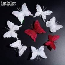 10Pcs/Lot Mix Style Women Hair Accessories Sweet Rhinestone Feather Butterfly Hairpins Hair Barrette Girls Hair Clip(China)