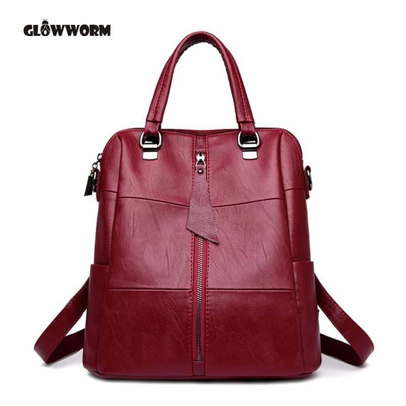 Fashion Brand Designer Women Bag Genuine Leather Backpack Young girls Bag Luxury Large Capacity Female School Bag Travel Bag<br>