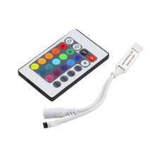 Mini 24Key IR Remote Controller for SMD3528 SMD5050 RGB LED Strip lights Mini Controller Drop Shipping Wholesale