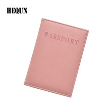 2016 NEW Fashion Leather Passport Cover Women Travel Tickets Passport Case High Quality Passport Holder 6 Colours for Choosing(China)
