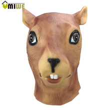 Face Silicone Mask Cute Squirrel Mardi Gras Mask Masque Halloween Party Full Face Mask Costume Cosplay mascara latex realista