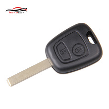 In Stock 2 Buttons Uncut Blade Remote Car Key Case Shell Fob For Peugeot 307 207 407 607 C2(China)