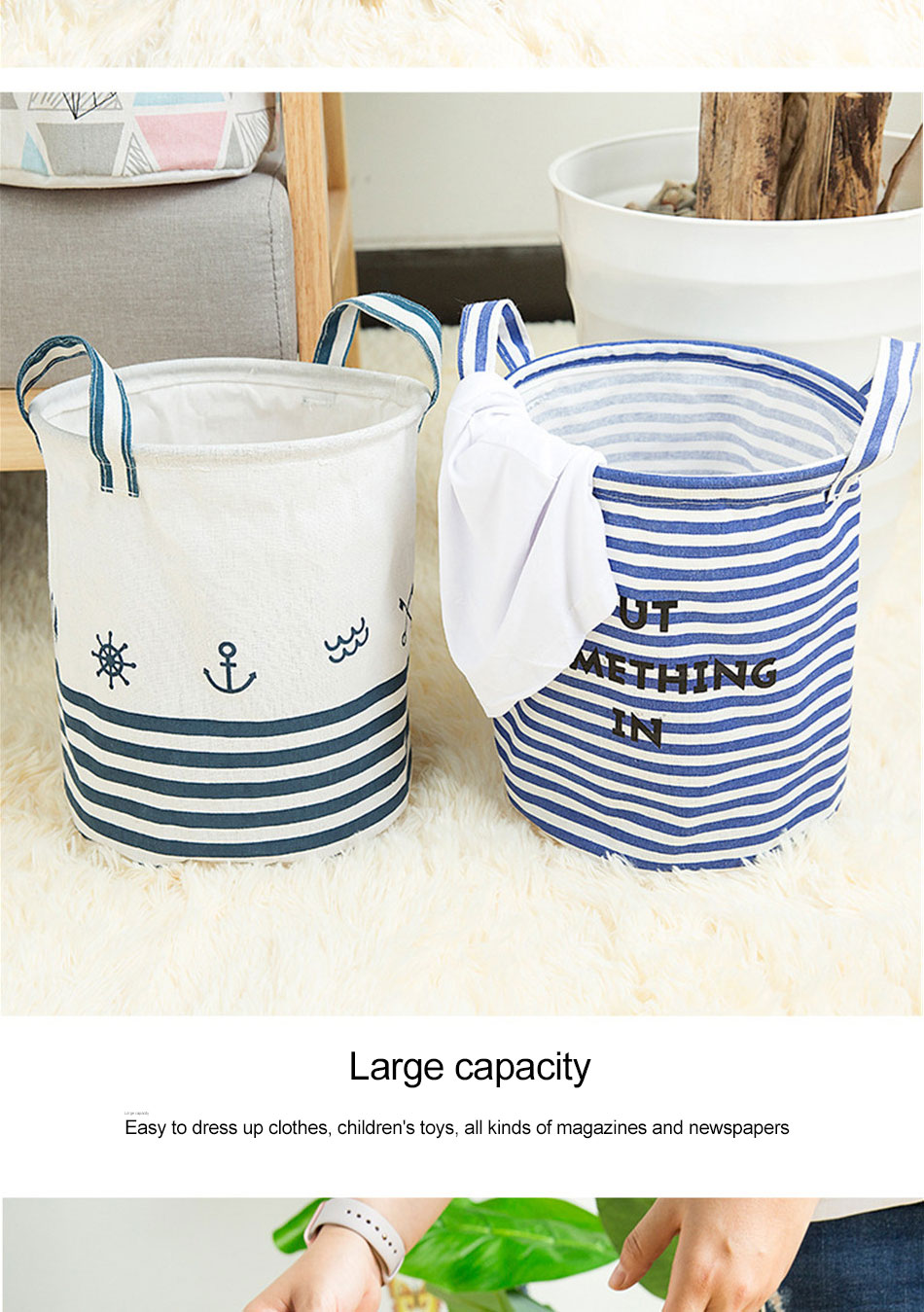 Storage Baskets Folding Laundry Basket Yellow Arrow Couple Linen Washing Clothes Barrel Bags With Handles Kids Toys Hamper Bag (5)