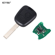 KEYYOU Replacement Remote Control Key 433MHz 2 Buttons FOB Circuit Board For Peugeot 307 73373067C Free Shipping