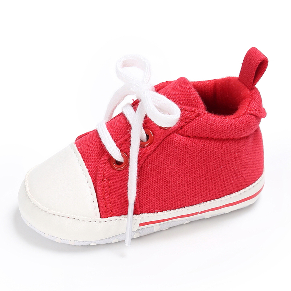 Spring Summer Newborn Canvas Shoes Sneaker Fashion 0-18 Month Baby Girls Boys Solid Soft Sole Shoes Prewalker First Walkers 17