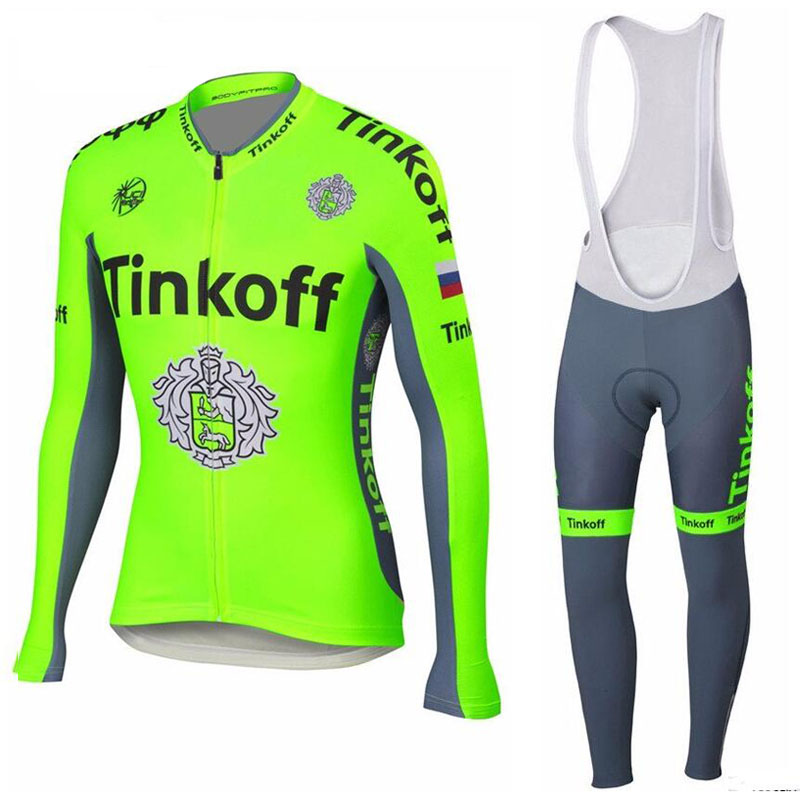 2016 Flour Green Winter Saxo Bank Cycling Jerseys Set/Thermal Fleece Cycling Clothing/Long Sleeve MTB bike Clothes Cycling set<br><br>Aliexpress
