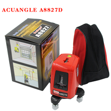 A8827D 360 Degree Self-leveling 3 Lines 3 Points Rotary Horizontal Vertical Red Laser Levels Cross laser Line + Laser Highlights