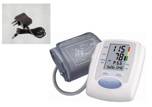 Free shipping Arm Digital Blood Pressure Monitor+AC power Adaptor blood pressure monitors<br><br>Aliexpress