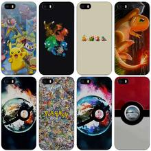 Anime Pokes pokemons ball friends Hard Black Plastic Case Cover for iPhone Apple 4 4s 5 5s SE 5c 6 6s 7 7s Plus(China)