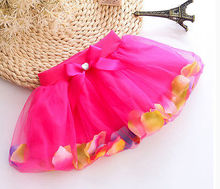 Kids Girls Petals Tutu Skirt Princess Party Skirt Tulle Gown FANCY Skirt 3-8Y