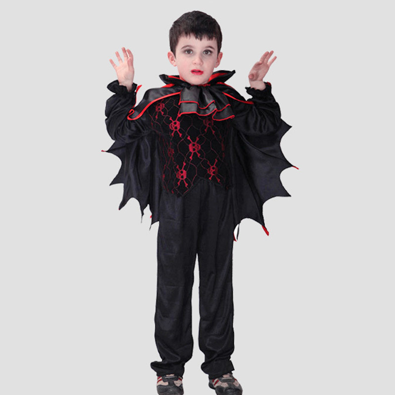 New Kids Vampire Costume Children Bat Wings Halloween Costume Fancy Carnival Clothing Boys Vampire Cosplay Festivals Outfit<br><br>Aliexpress